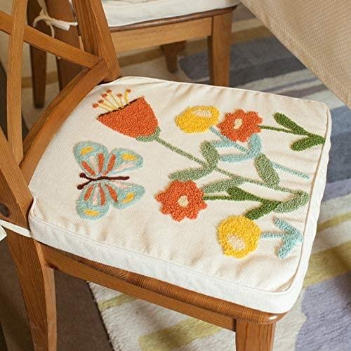 Подушка сидушка с вышивкой