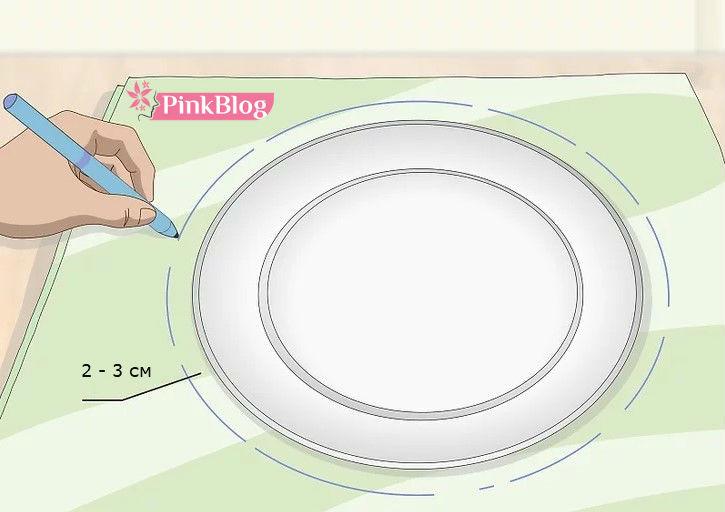 Выйкройка для круглой сидушки