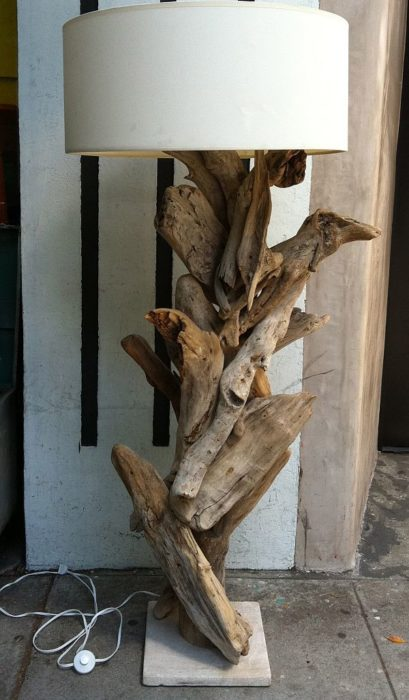 Торшеры из дерева