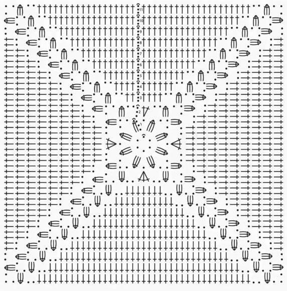 Схема вязания квадратной сидушки