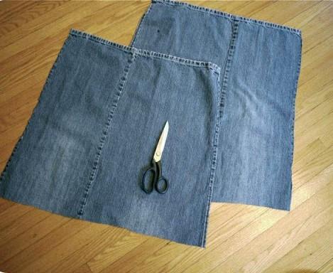 Сидушки из старых джинсов