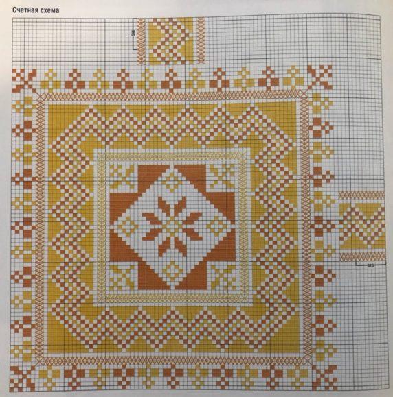 Подушка сидушка с вышивкой, схема
