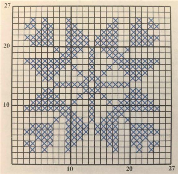 Идеи для вязания квадратных сидушек на стулья и табуреты, схема