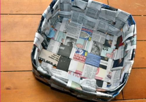 Бумажные корзинки в интерьере