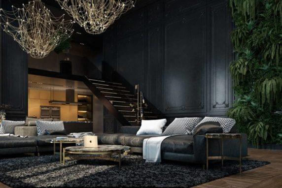 Стиль loft черный