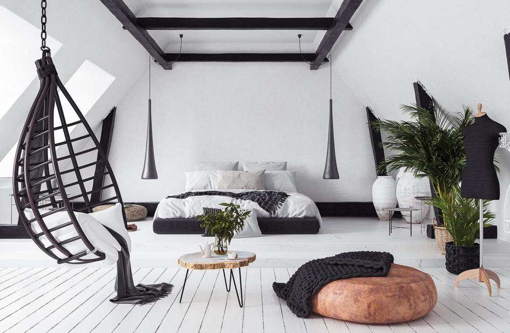 Стиль лофт для спальни