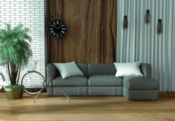 Стиль лофт для зала и гостиной