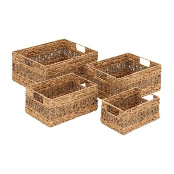 Деревянные корзинки в интерьере
