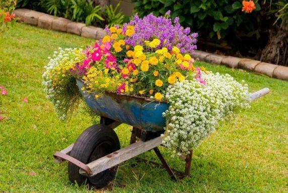 Тележка под цветы