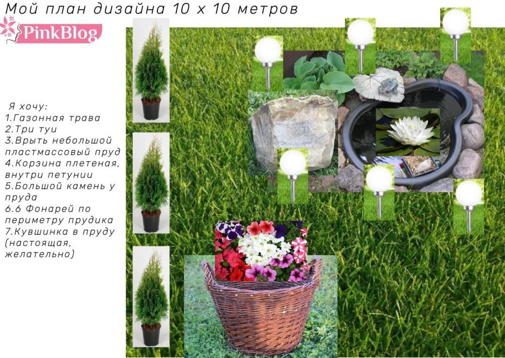 План дизайна садового участка
