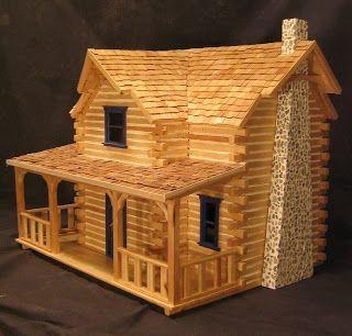 Домик из китайских деревянных палочек