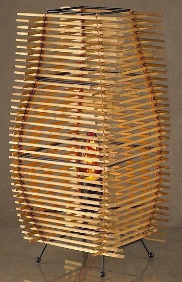 Плафон из китайских палочек для суши