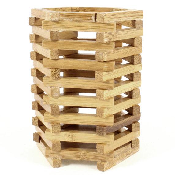 Контейнер из деревянных палочек