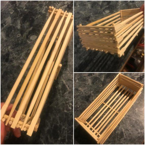 Ящик из японских палочек