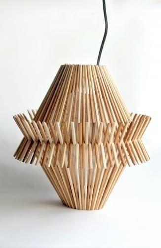 Абажур из японских палочек