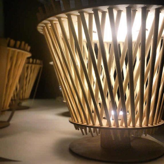 Светильник из палочек для суши