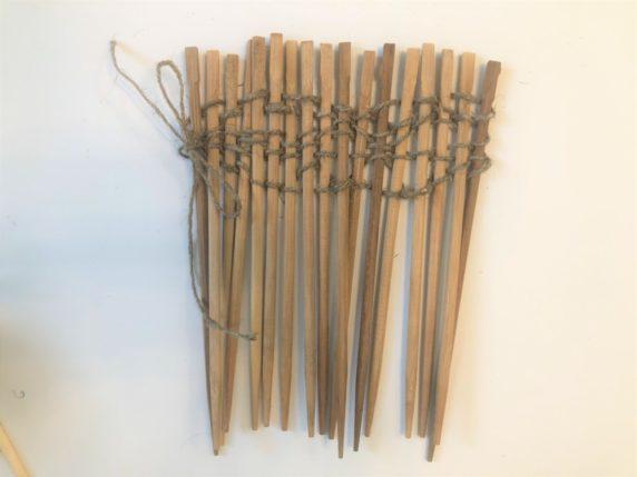 Забор из палочек для суши