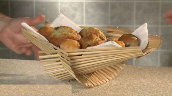 Хлебница из китайских палочек