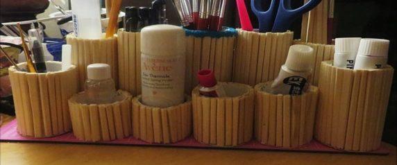 Карандашница из палочек для суши