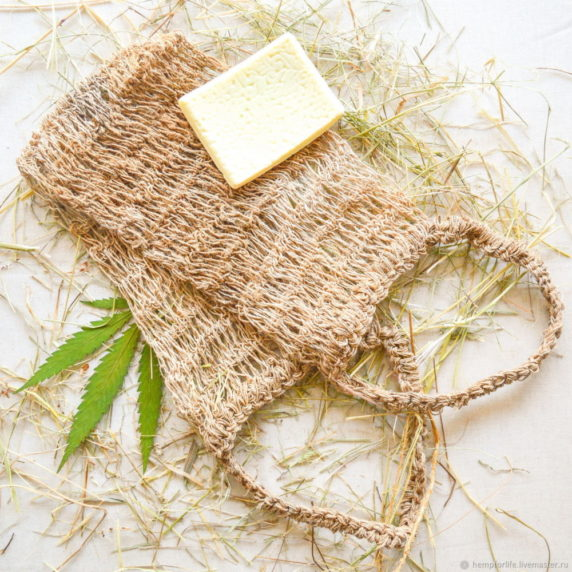 Мочалка из натурального волокна