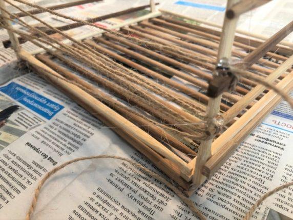 Корзина своими руками из китайских палочек