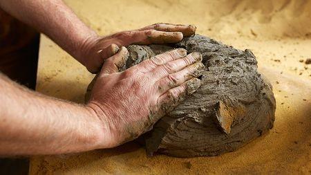 Корзина из глины своими руками