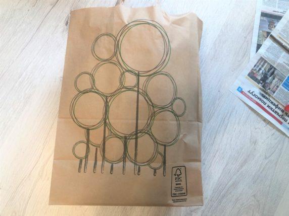 Бумажный пакет для плетения корзины своими руками