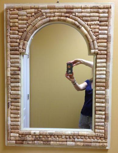 Рама для зеркала из винных пробок своими руками