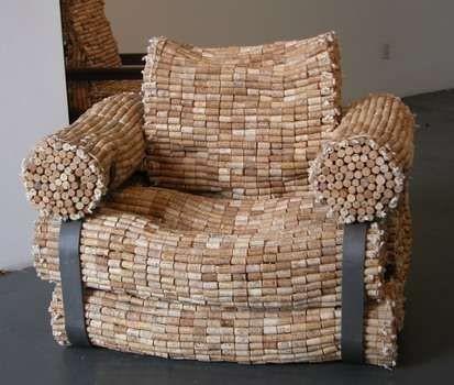 Кресло из винных пробок своими руками