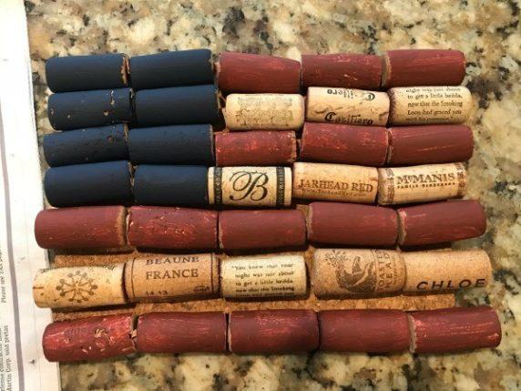 Окрашивание винной пробки гуашью