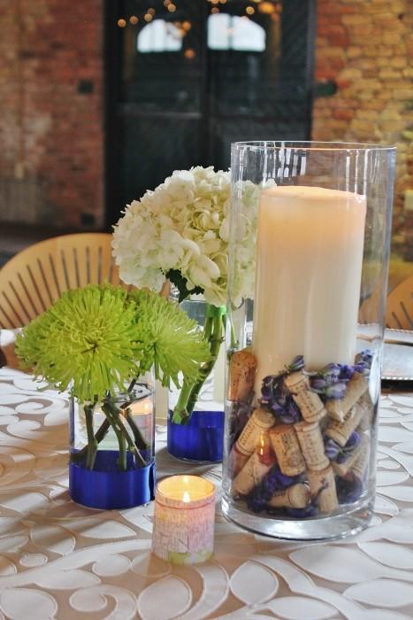 Свадебные украшения из винных пробок своими руками