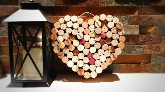 Сердце своими руками из винных пробок