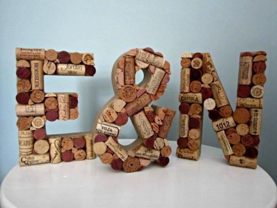 Буквы из винных пробок своими руками