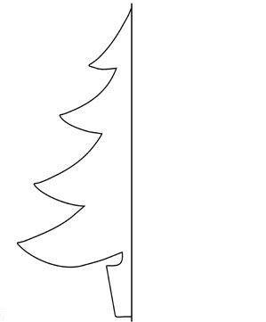 Выкройка елки