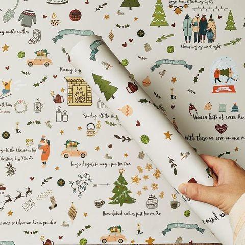 Упаковочная бумага для елки