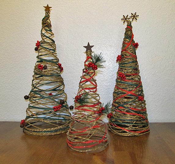 елка из почтового джута