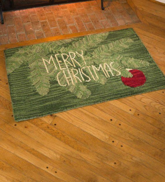 Новогодний коврик для входной двери