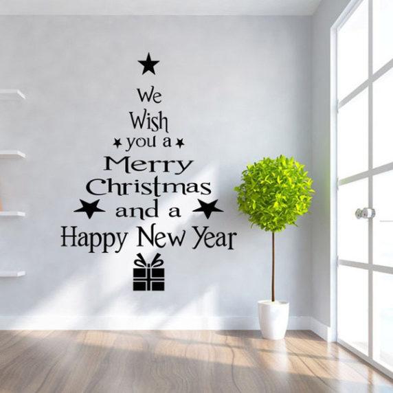 Наклейки для новогоднего интерьера