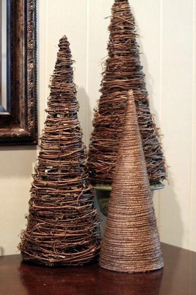 Новогодняя елка из каната своими руками