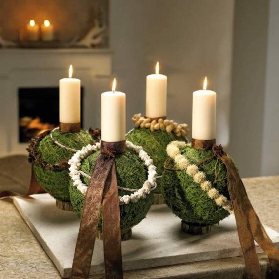 Свечи в новогоднем интерьере