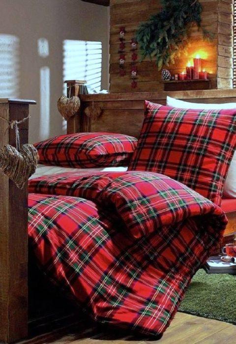 Постельное белье в новогоднем интерьере