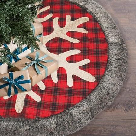 Коврик для елки в новогоднем интерьере