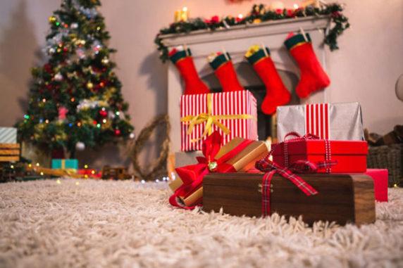 Новогодние ковры в интерьере