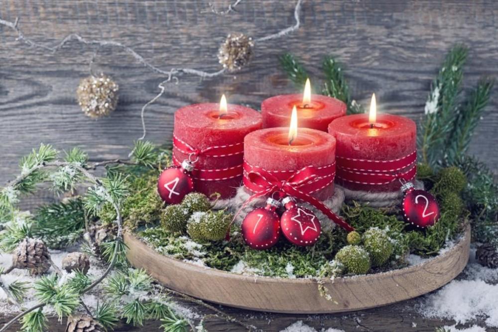 Рождественские свечи в интерьере