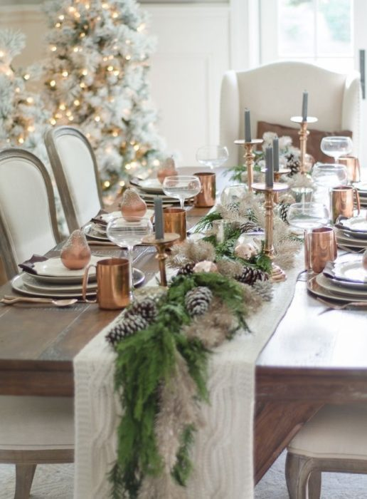 Новогодняя посуда в интерьере
