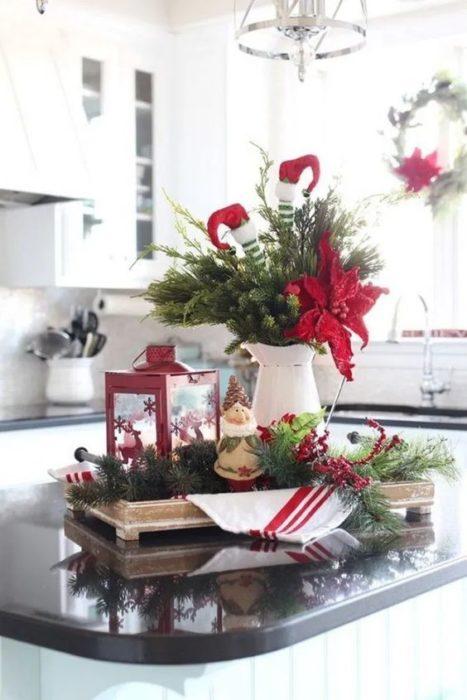 Рождественский кухонный интерьер