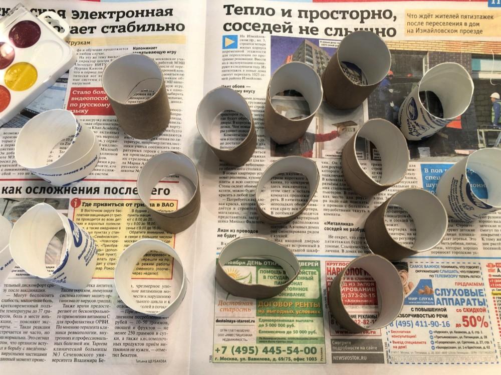 Втулки для изготовления елки своими руками