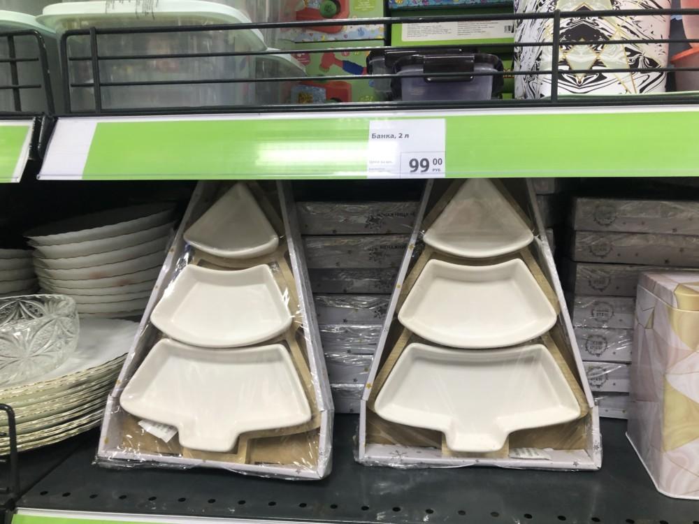 Новогодняя посуда для кухонного интерьера