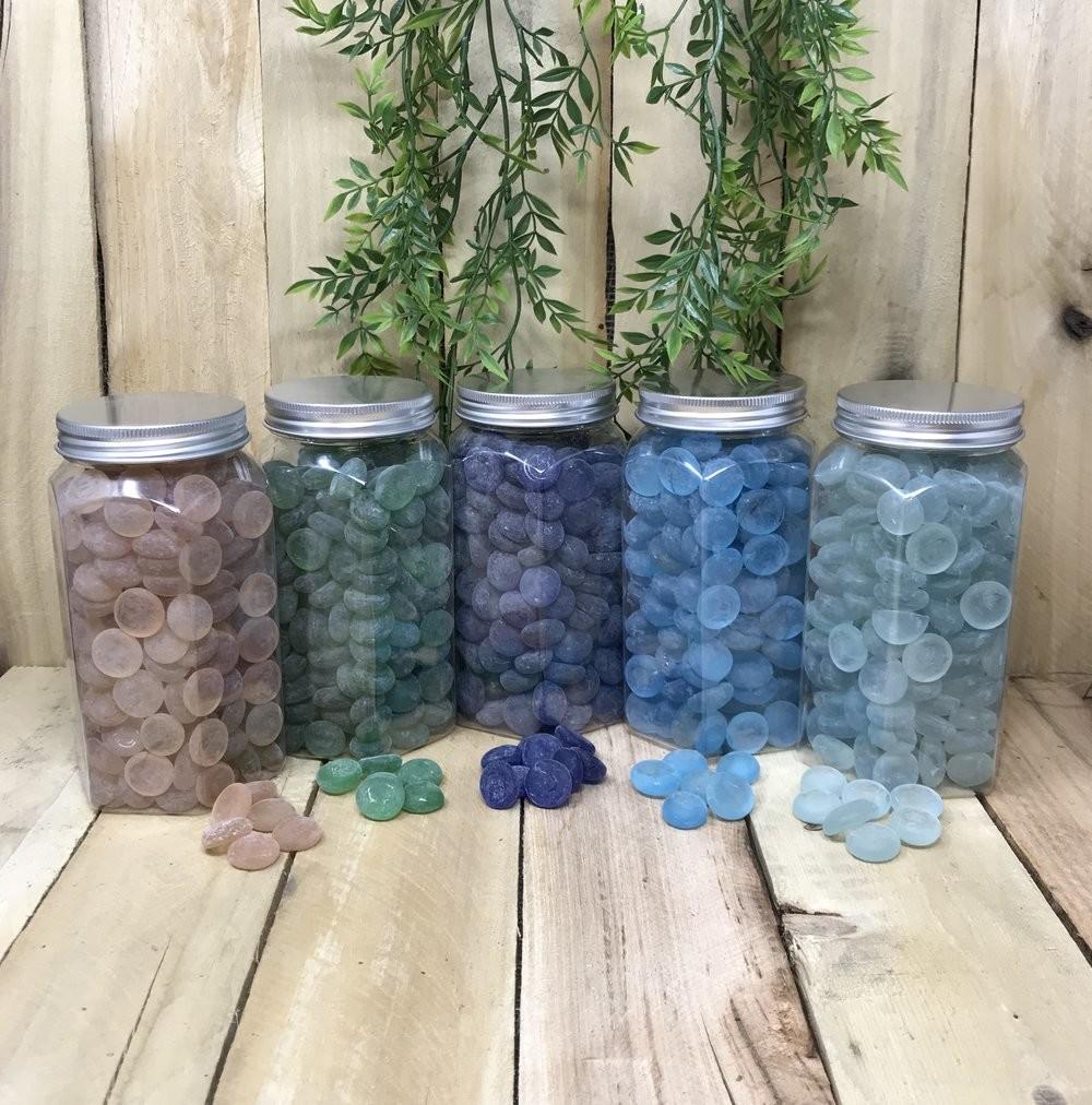 Стеклянные камни для декора елки