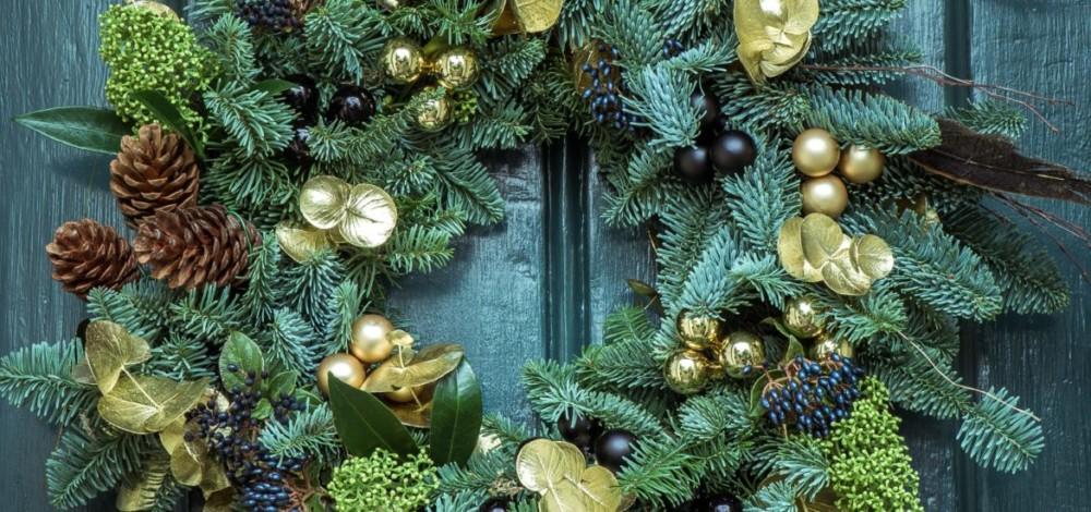 Рождественский венок в интерьере